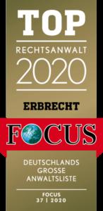 Rechtsanwalt Top 2020 - Focus Deutschland